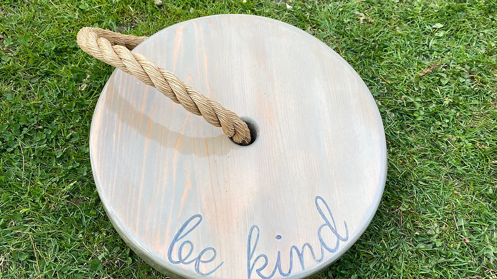 Be Kind Round Timber Swing