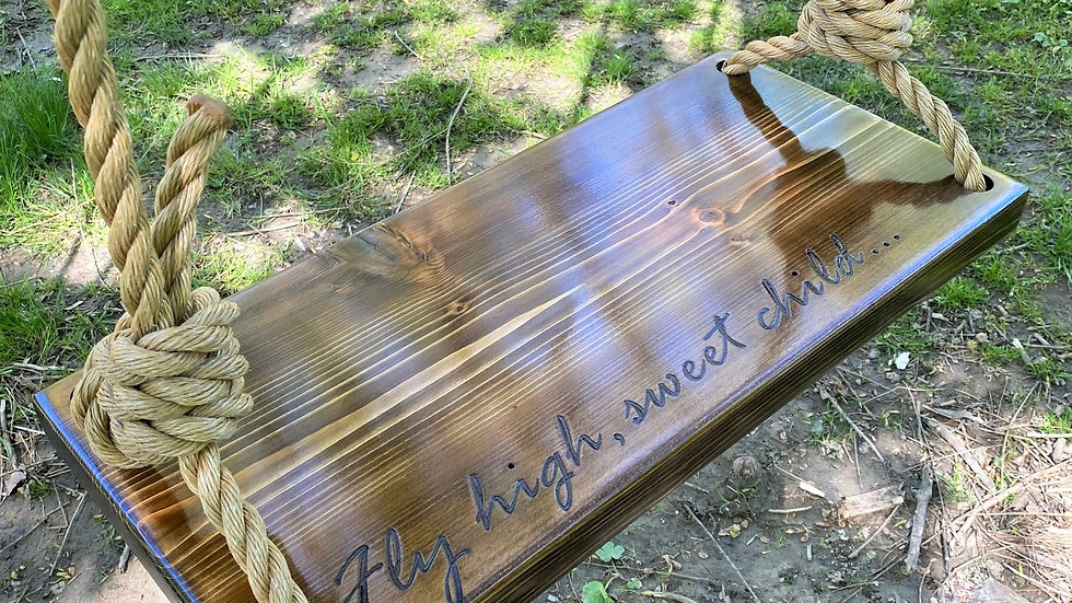 Fly High Sweet Child Rectangle Timber Swing-Midsize