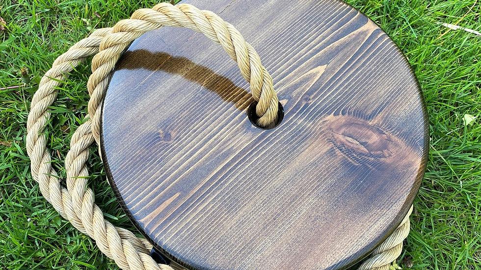 Dark Walnut Round Timber Swing