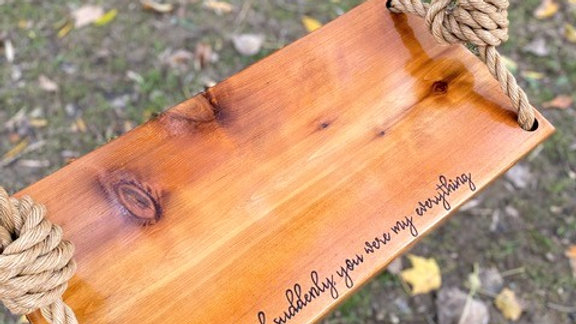 And Suddenly You Were My Everything Wooden Tree Swing