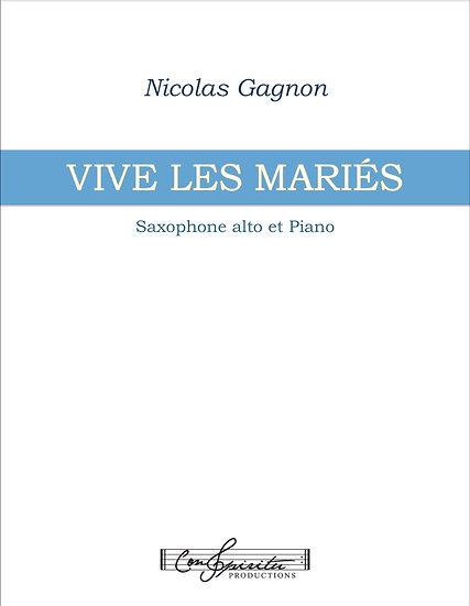 Vive les mariés (saxophone alto et piano) - PDF