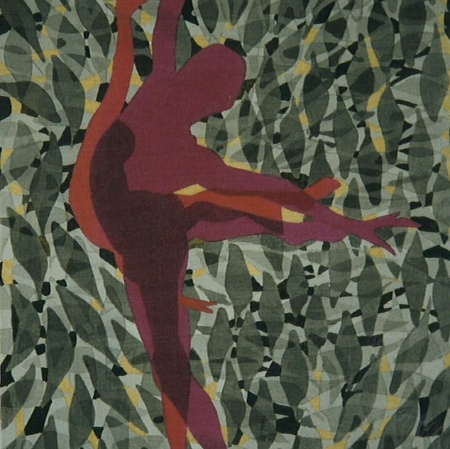 Pink Dancers Black Pattern