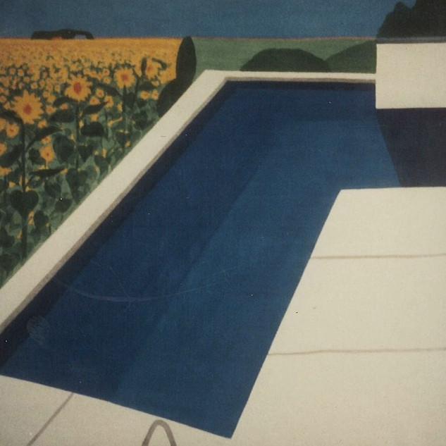 Pool & Sunflowers