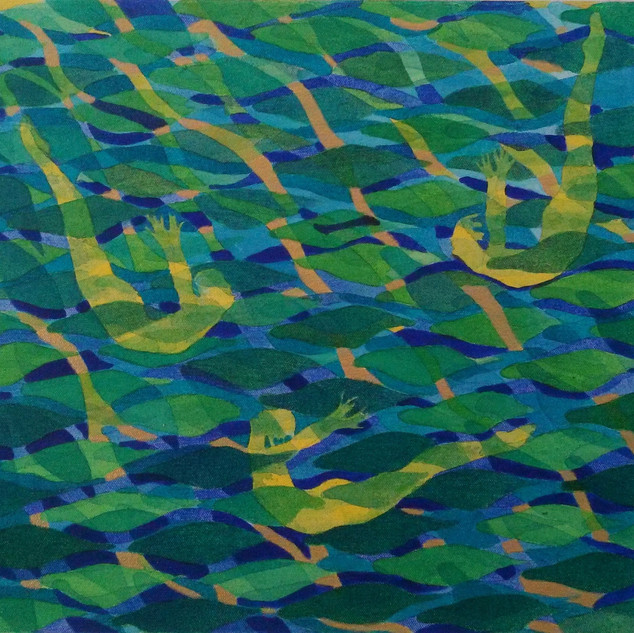 Swimmers in Green