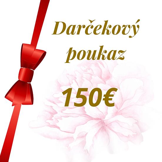 E - Darčekový poukaz 150 Eur