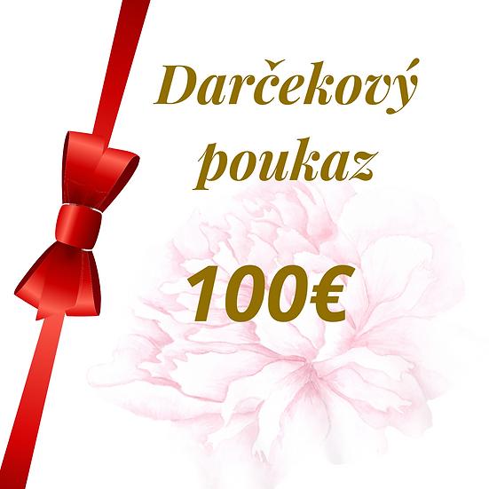 E - Darčekový poukaz 100 Eur