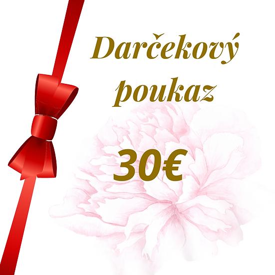 E - Darčekový poukaz 30 Eur