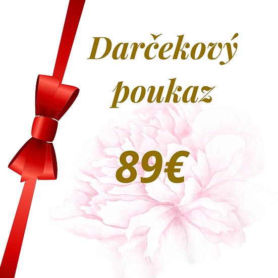E - Darčekový poukaz 89 Eur