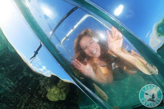 kayak entièrement transparent
