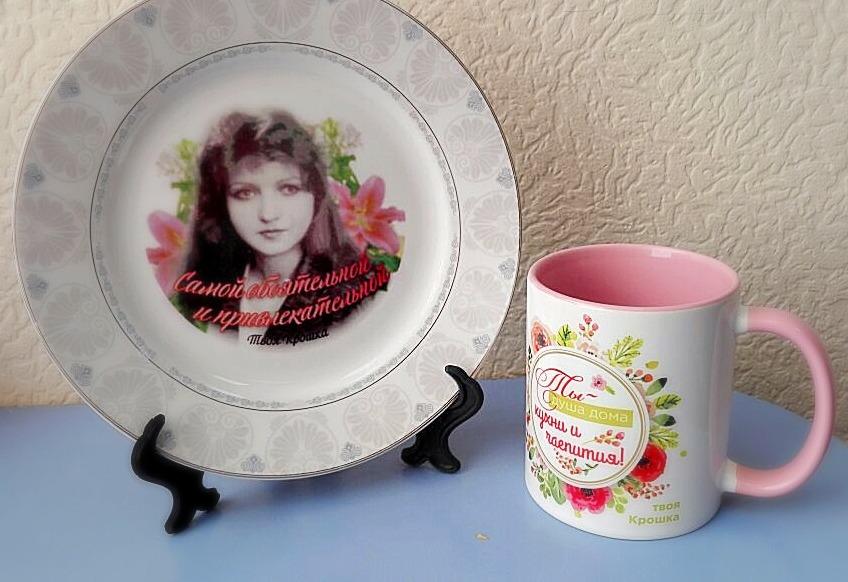 Печать на кружках и тарелках