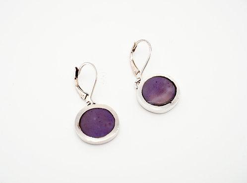 Circle Drop Earrings = lavender jade  / KSJ - Kendra Studio Jewellery