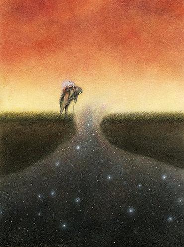 """Dust Light Trifles In The New Unknown"" Art print | Artist: Jeannie Lynn Paske"