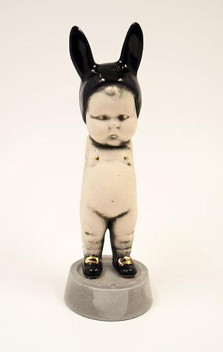 Black BunBun Sculpture Figure