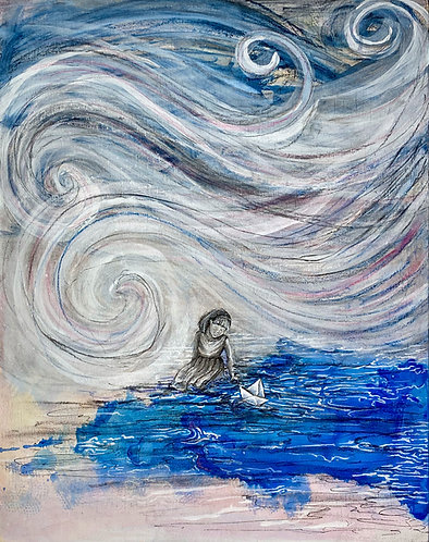 """The Calling"" Original Mixed-Media Painting"