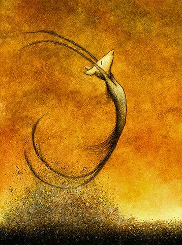 """Future Golden Remains"" Art print"