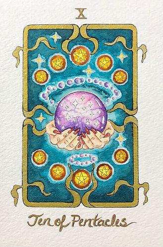 """Ten of Pentacles"" Original Painting"