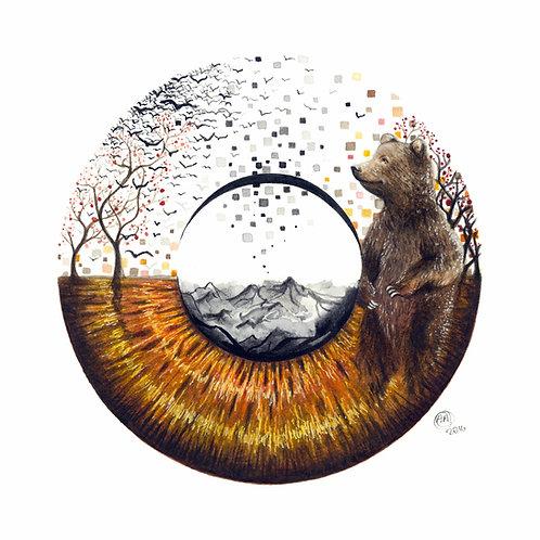 """""""Brown Eye"""" Fine Art Print"""