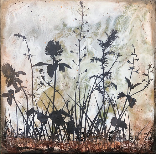 """""""Where the Wild Things Grow"""" Encaustic Painting"""