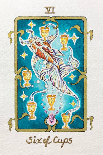 """""""Six of Cups"""" Original Painting"""