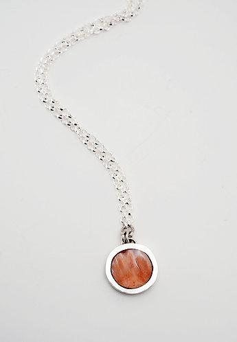 Circle Pendant = red spiny oyster shell / KSJ - Kendra Studio Je