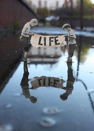 """""""Life"""" Paper Collage & Photography"""