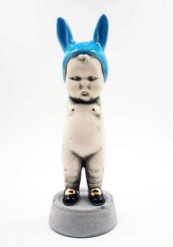 Blue BunBun Sculpture Figure