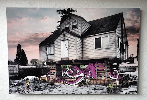 """""""Liberating The Kraken"""" Original Collage Artwork"""