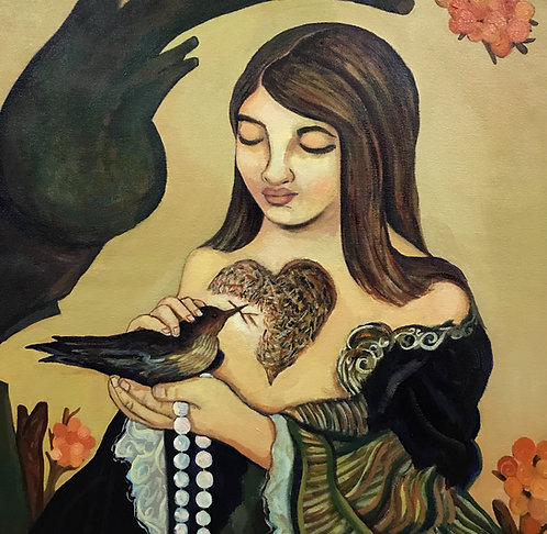 """My Birthday Dream"" Acrylic Painting"