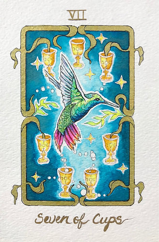 """""""Seven of Cups"""" Original Painting"""
