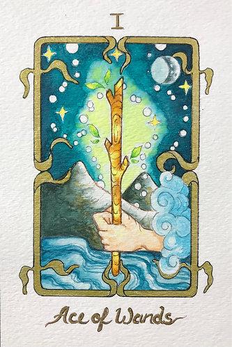 """Ace of Wands"" Original Painting"