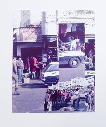 """Tel Aviv Bus Station 1977 #7"" Analog Collage"