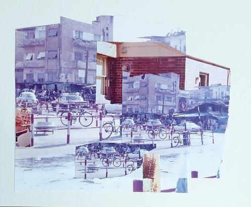 """Tel Aviv Bus Station 1977 #2"" Analog Collage"