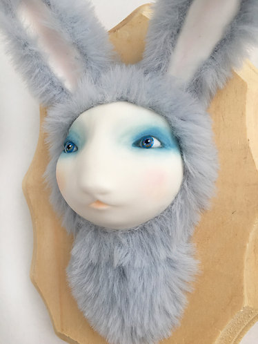 """""""Fluffy Blue Bunny Faux"""" Curious Taxidermy Figure / Artist: Margaret Me"""