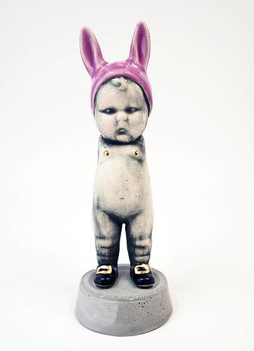 Purple BunBun Sculpture Figure