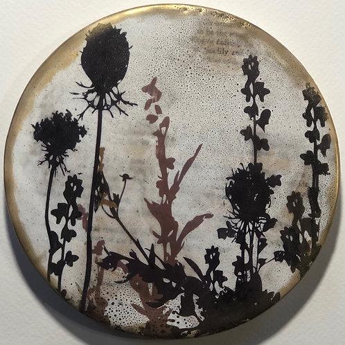"""Petite Flora"" Encaustic Painting"
