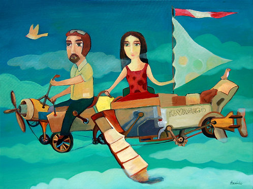 """Traveler"" Acrylic Painting"