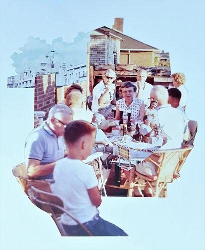"""Summer Picnic 1961 #1"" Analog Collage"