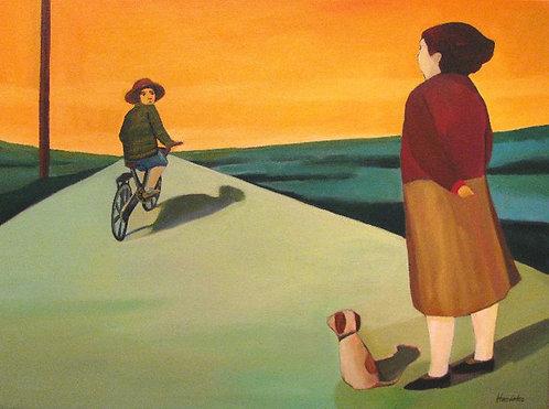 """""""Un Comercial y Regreso"""" Acrylic Painting"""