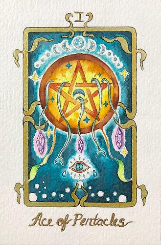 """Ace of Pentacles"" Original Painting"