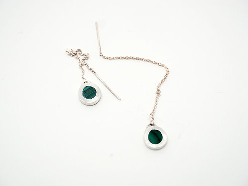 Circle Earrings = Malachite  / KSJ - Kendra Studio Jewellery