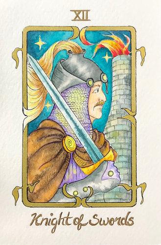 """Knight of Swords"" Original Painting"