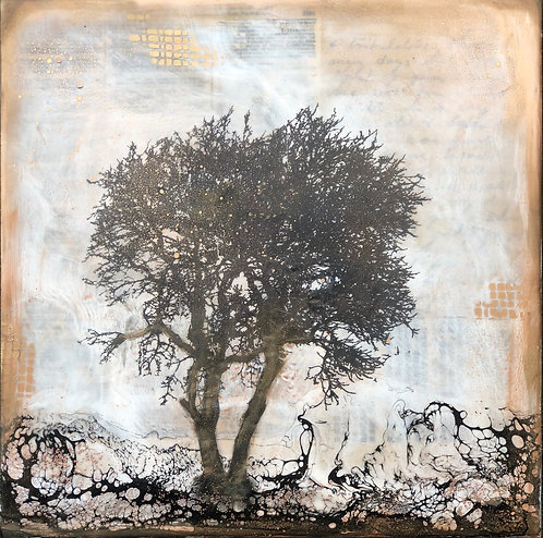 """""""Shelter"""" Encaustic Painting"""