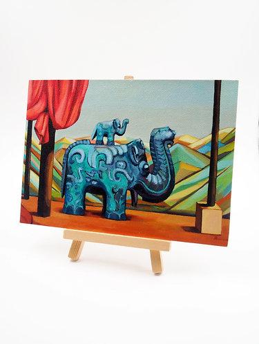 """Ritual On The Mountain"" Acrylic Painting"