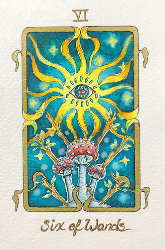 """Six of Wands"" Original Painting"