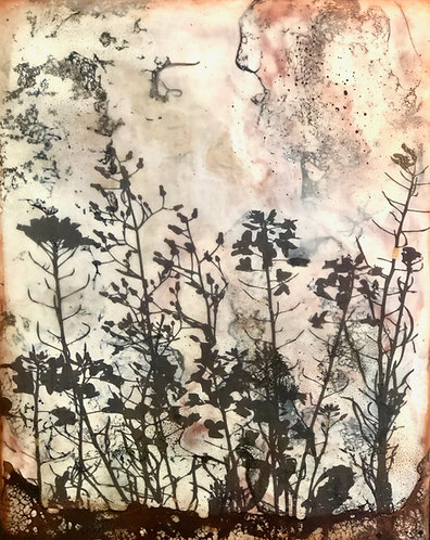 """Inflorescence"" Encaustic Painting"