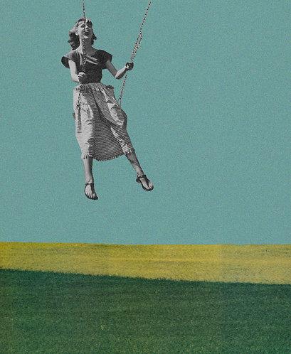 """Swingin' Into Summer"" Analog Collage"