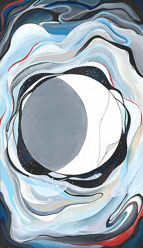 """The Moon"" Acrylic Painting"