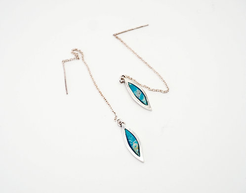 Feather Earrings = turquoise  / KSJ - Kendra Studio Jewellery
