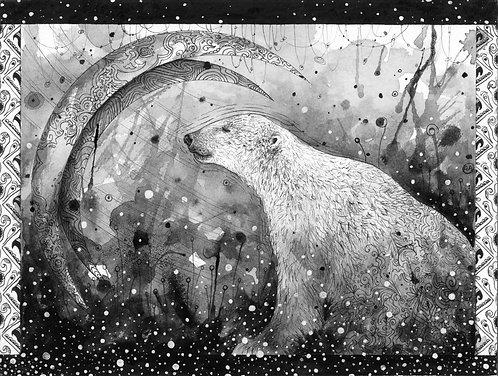 """Cosmic Bear"" Fine Art Print"