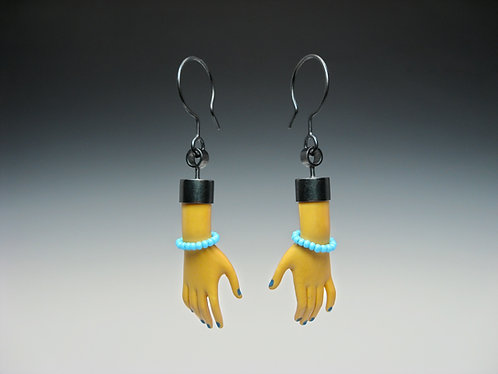 Blue Bracelet Earrings / Alexandra Chaney